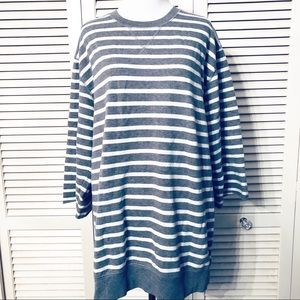 Old Navy | 🌺Gray & White Striped Sweatshirt